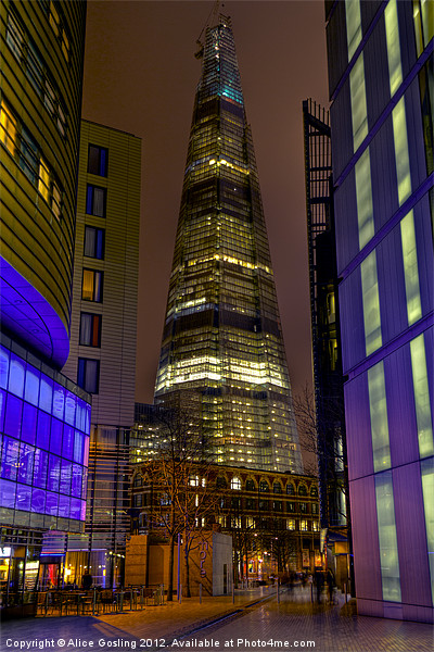 The Shard - London Canvas print by Alice Gosling