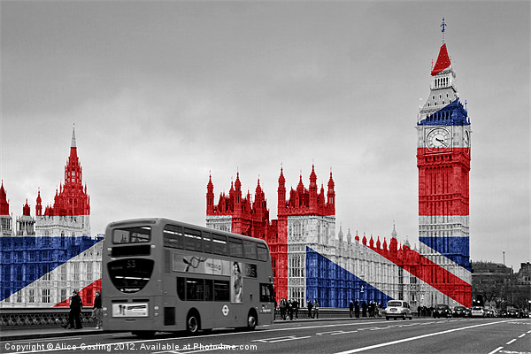 Big Ben Union Jack Canvas print by Alice Gosling