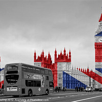 Buy canvas prints of Big Ben Union Jack by Alice Gosling