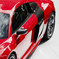 Buy canvas prints of  Red Audi R8 V10 by Paul Praeger