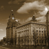 Buy canvas prints of  The Liver Building, Liverpool, UK by Gregg Howarth