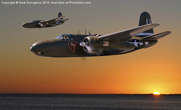 Red Sky at Morning - 312th BG Version Canvas print by Mark Donoghue