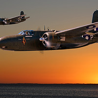 Buy canvas prints of Red Sky at Morning - RAAF Version by Mark Donoghue