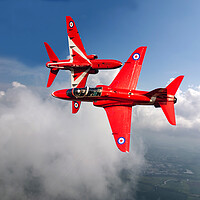 Buy canvas prints of Red Arrows Close Pass by David Stanforth