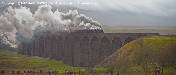 Cumbrian Mountain Express Canvas print by MICHAEL YATES