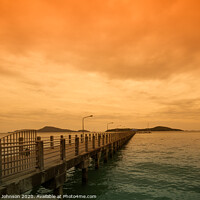 Buy canvas prints of Rawai Pier-Phuket by Annette Johnson
