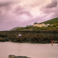 Buy canvas prints of The rock pool by phil pace