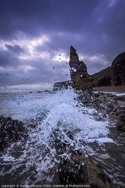 Seaham Waves Canvas Print by Darren Johnson