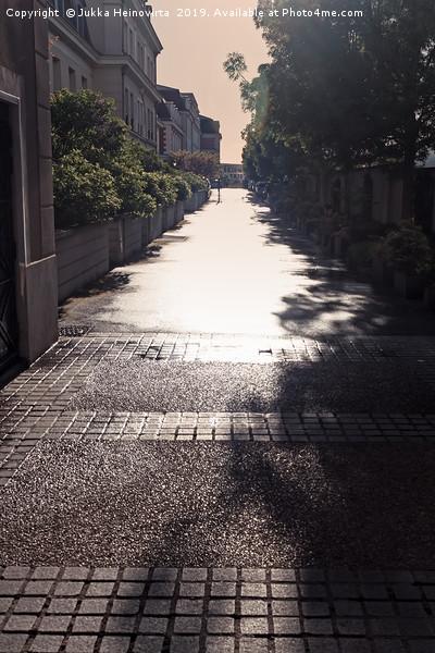 Narrow Alley In Bright Sunlight Canvas print by Jukka Heinovirta