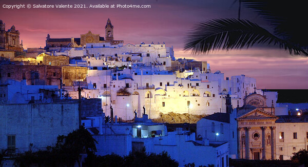 Ostuni al Tramonto Framed Mounted Print by Salvatore Valente