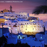 Buy canvas prints of Ostuni al Tramonto by Salvatore Valente