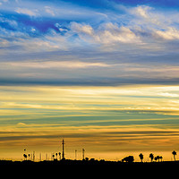 Buy canvas prints of Sunset Silhouette Landscape Scene by Daniel Ferreira-Leite
