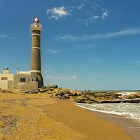 Buy canvas prints of Jose Ignacio Lighthouse and the Beach by Daniel Ferreira-Leite
