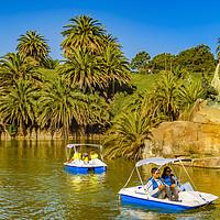 Buy canvas prints of Lake Park, Parque Rodo, Montevideo, Uruguay by Daniel Ferreira-Leite