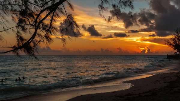 Sunset on Paradise Canvas print by Garvin Hunter