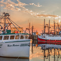 Buy canvas prints of Painting of Yarmouth Harbour by Garvin Hunter