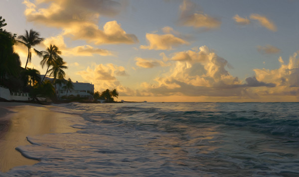 Good Morning Barbados Canvas print by Garvin Hunter