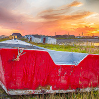 Buy canvas prints of Fishing Hamlet at Sunrise by Garvin Hunter