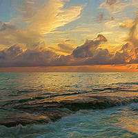 Buy canvas prints of Paradise Sunset by Garvin Hunter