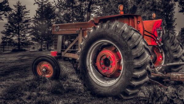 Farm Tractor Canvas print by Garvin Hunter