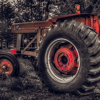 Buy canvas prints of Farm Tractor by Garvin Hunter