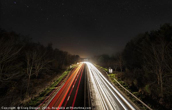 Starry Highway Canvas print by Craig Doogan