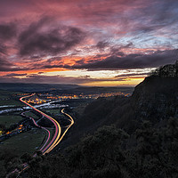Buy canvas prints of Kinnoull Hill Sunset by Craig Doogan