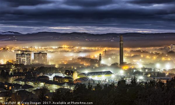 Dundee City Fog Canvas print by Craig Doogan
