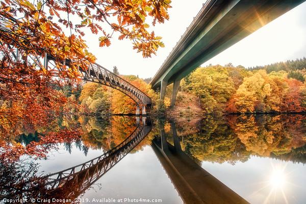 Loch Faskally Bridges Canvas print by Craig Doogan