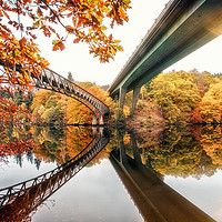 Buy canvas prints of Loch Faskally Bridges by Craig Doogan