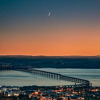 Buy canvas prints of Dundee City - Tay Rail Bridge Moonscape by Craig Doogan