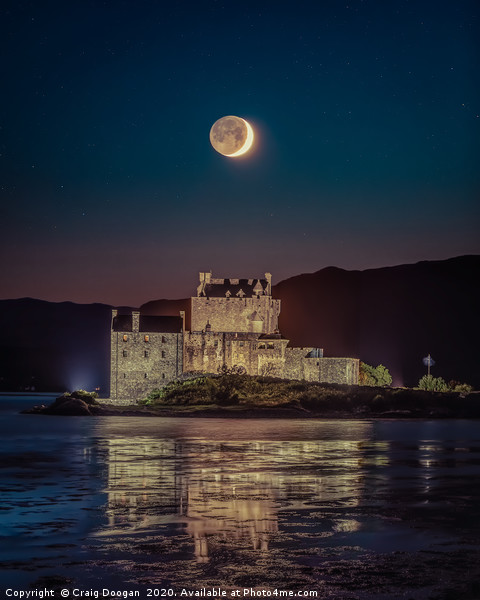 Eilean Donan Moonscape Canvas print by Craig Doogan