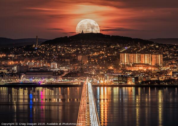 Dundee Super Moon  Framed Mounted Print by Craig Doogan