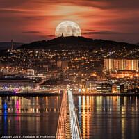 Buy canvas prints of Dundee Super Moon  by Craig Doogan