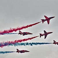 Buy canvas prints of Red Arrows Display  by Jeremy Hayden