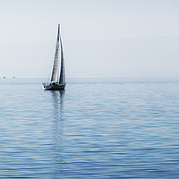 Buy canvas prints of Smoke on the Water Yacht by Jeremy Hayden