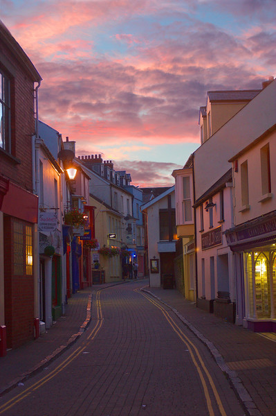 Incredible Pink Sunset in Tenby Canvas Print by Jeremy Hayden