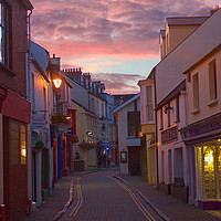 Buy canvas prints of Incredible Pink Sunset in Tenby by Jeremy Hayden