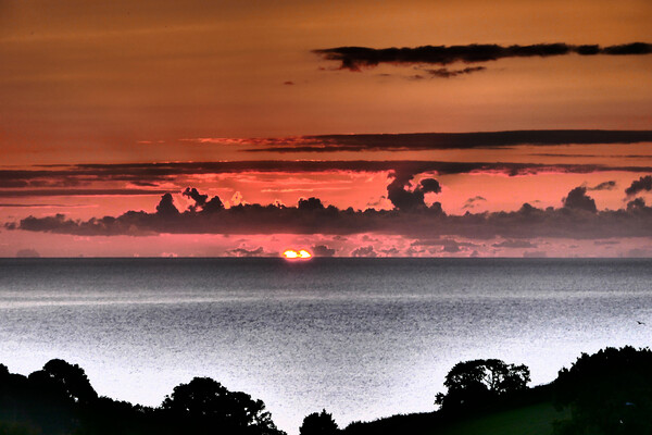 Look at This Beatiful Sunrise in Teignmouth Canvas Print by Jeremy Hayden