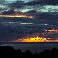 Buy canvas prints of Teignmouth Sunrise and Cloud Reflections by Jeremy Hayden