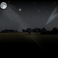 Buy canvas prints of night field by paul ratcliffe