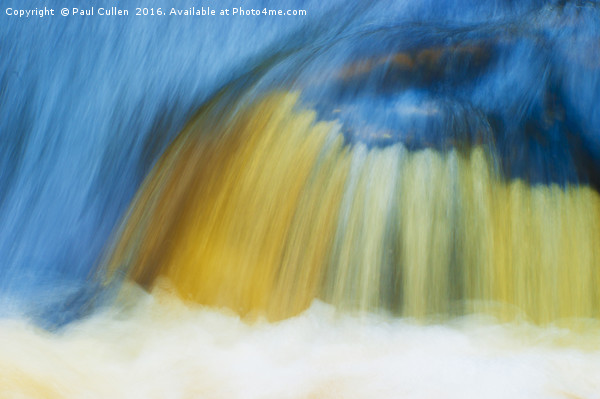 Blue Cascade Canvas Print by Paul Cullen