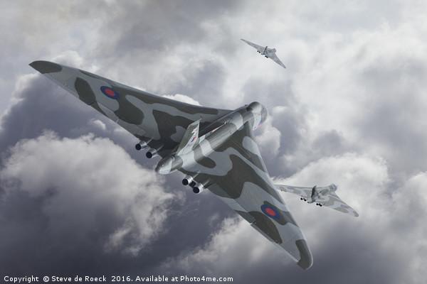 Vulcan Scramble Canvas Print by Steve de Roeck