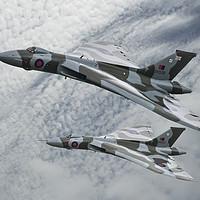 Buy canvas prints of Vulcans To The Skies by Steve de Roeck