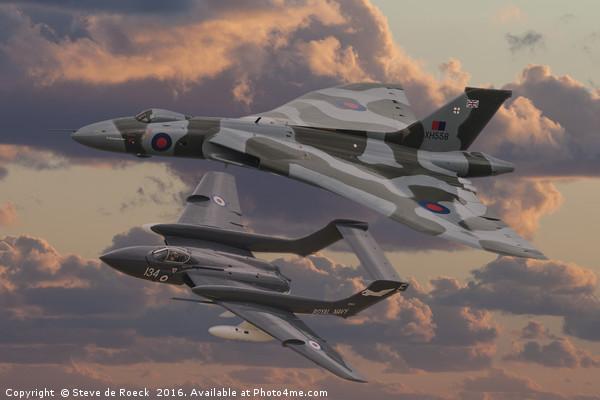 Vulcan and Sea Vixen  Canvas print by Steve de Roeck