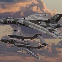 Buy canvas prints of Vulcan and Sea Vixen  by Steve de Roeck