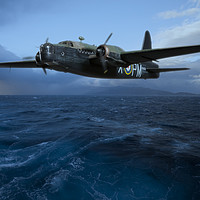 Buy canvas prints of Vickers Wellington Preparing To Drop Mines, Flying by Steve de Roeck