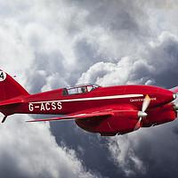 Buy canvas prints of de Havilland Comet Racer DH88  3/3 by Steve de Roeck