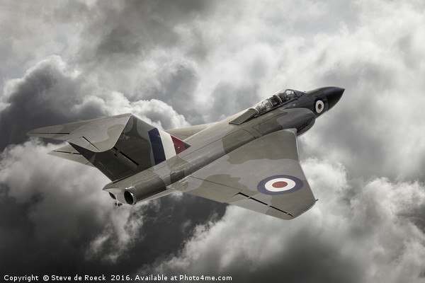 Gloster Javelin All Weather Fighter Canvas print by Steve de Roeck