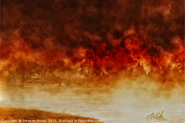 Fireburst Canvas print by Steve de Roeck